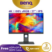 Monitor 4K BenQ PD2700U 27 inch IPS 4K Professional Desainer Monitor