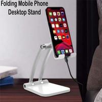Q9 Holder Hp Full Stainless Folding Mobile Phone Desktop Stand