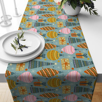 TAPLAK MEJA TABLE RUNNER NATAL 023 140X40CM