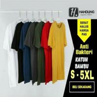 kaos baju polos 30s cotton bamboo (katun bambu) - O-neck, S