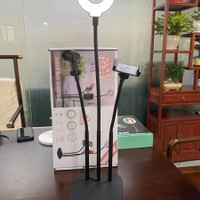 A15 RingLight Portable Microphone Stand Lazypod phone Holder 3in1