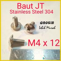 Baut JT M4 x 12 Payung Obeng SUS304