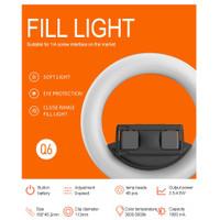Q6 Ring light PORTABLE 6inc 16cm Ringlight Livestreamer Selfie
