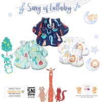 LIBBY 3 Pcs Sarung Tangan & Kaos Kaki Karet Bayi/Baby Motif (0-3M)