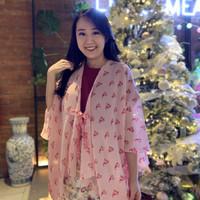 Outer Muslim Wanita / Kardigan Panjang / Luaran / Outwear Kimono Murah