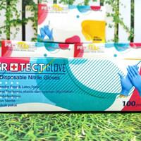 Sarung Tangan Medis Protect Gloves Nitrile size MEDIUM isi 100 pcs/box