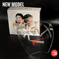NEW MODEL Face Shield Kacamata Bahan Akrilik Full Face Shield Bening