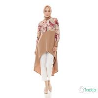Atasan Muslim Wanita | Yasmin Long Tunik | S M L XL | Tazkia Hijab
