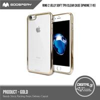 Original Mercury Goospery Ring 2 Chrome Jelly Soft Case Iphone 7 / 8