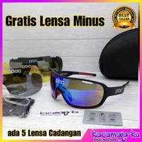 Kacamata Gowes Sepeda Pria Wanita POC AVIP 5 Lensa - Free Lensa Minus