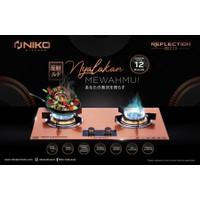 Niko Reflection Gold 2.0 Kompor Gas Tampered Glass Pematik Otomatis