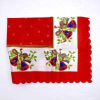 Taplak Meja Natal MURAH Satin | Christmas Table Cloth