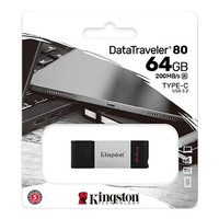 Kingston Flashdisk TYPE C 64GB - 200Mb/s USB 3.2 DataTraveler DT80