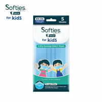 Masker Karet Softies Daily Mask for Kids Pack Isi 5 Pcs