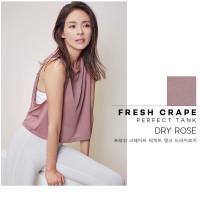 STL Fresh Crepe Dry Rose Crop Sleeveless Tank Top Workout Gym Yoga Ori
