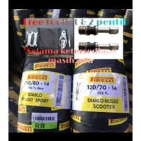 paket ban pirelli diablo rosso sport 100/80-14 & scooter 120/70-14