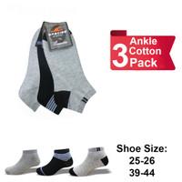 Kaos Kaki Pendek SPECIES Pria Semata Kaki Ankle Cotton 3 Pack