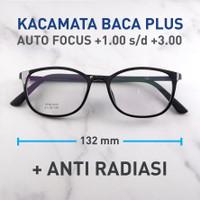 Kacamata Plus Baca Autofocus Auto Menyesuaikan + Anti Radiasi -KMB8023