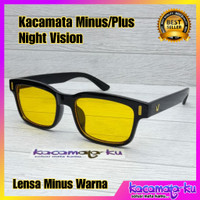 Kacamata Minus Plus Lensa Night Vision / Lensa Warna Korea Kotak