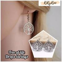 tree of life silver earings