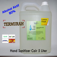 (Termurah) Hand Sanitizer Cair / Liquid 5 Liter Alkohol 80%