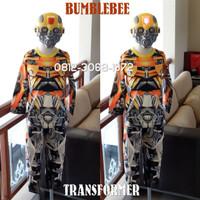 Baju Kostum Anak Karakter Superhero TRANSFORMER BUMBLEBEE Topeng NYALA