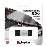 Kingston Flashdisk TYPE C 32GB - 200Mb/s USB 3.2 DataTraveler DT80