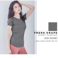 STL Fresh Crepe Short Sleeves Activewear Gym Top Quick Dry Workout