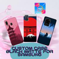 Custom case softcase black matte for samsung (DOFF)