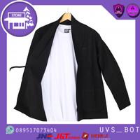 WOLV Kimono Pria Outer Loose Casual Lengan Panjang