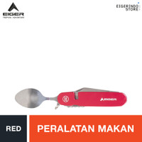 Eiger Cutlery Set SS - Red