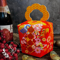 box/dus toples kue kering / packaging imlek CNY pouch kucing & flower