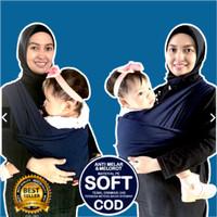 Gendongan Bayi Cimo polos Motif 2in1 Geos Praktis Gendong Simple BAG 2