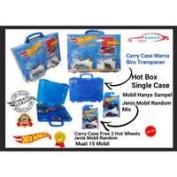 Kotak Box Carry Case Hotwheels Free 2 Hot Wheels Case Biru Transparan