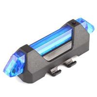 Defensor Lampu Sepeda 5 LED Taillight Rechargeable BIRU -SN54