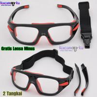 Kacamata Olahraga Futsal,Basket,Badminton,Sepeda Gratis Lensa Minus