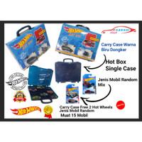 Kotak Box Carry Case Hotwheels Free 2 Hot wheel Case Biru Dongker
