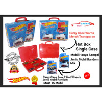 Kotak box Hotwheels Hot Box Carry case Single Box Free 2 Hot Wheels