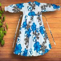 Gamis Rempel Anak Sakura biru