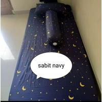 sprei kasur busa No.3 120x200x15 - Sabit Navy, Sprei Saja