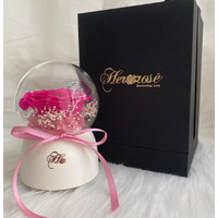 Only Love Music Globe - Bunga Box Her Rose by Her Jewellery