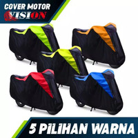 TERMURAH cover motor body waterproof sarung motor antiair Honda Scoppy - Merah