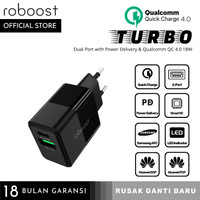 roboost Kepala Charger 18W Fast Charging PD QC 4.0+ 3.0 2021 Model