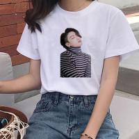 Baju Kaos Tshirt Atasan BTS JungKook Dynamite BT21 Cewek Wanita Katun