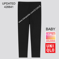 CELANA LONGJOHN BABY TODDLER UNIQLO HEATTECH TIGHTS 418759 HITAM BLACK