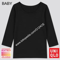 LONG JOHN UNIQLO BABY TODDLER T-SHIRT BAYI HEATTECH SCOOP NECK BLACK