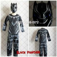 Topeng NYALA BUNYI Kostum Halloween Karakter Superhero BLACK PANTHER