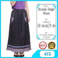 Rok anak Usia 9-12tahun Rok panjang jeans anak perempuan list motif