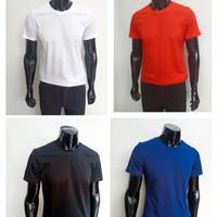 kaos polos pria bahan katun bambu halus t-shirt cotton import slim fit