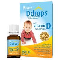 baby Ddrops vitamin D3 400IU buat 0-12bulan 90drops